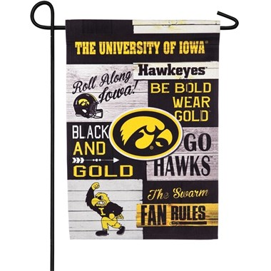 University_of_ Iowa_Linen_Fan_Rules_ Garden_Flag_
